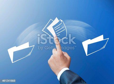 istock Transferring files concept 461241553