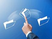 Transferring files concept