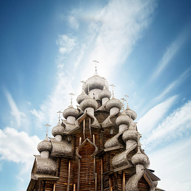 Transfiguration church in Kizhi, russia  republic of karelia russia stock pictures, royalty-free photos & images