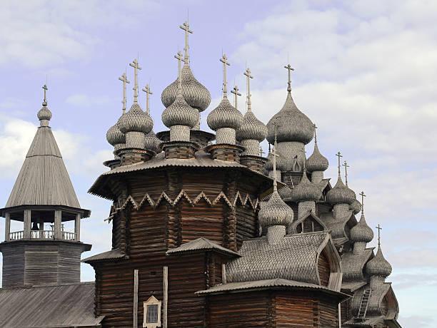 Transfiguration Church, Kizhi Island, Russia. stock photo