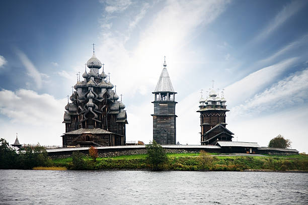 Transfiguration church Transfiguration church in Kizhi, see also republic of karelia russia stock pictures, royalty-free photos & images