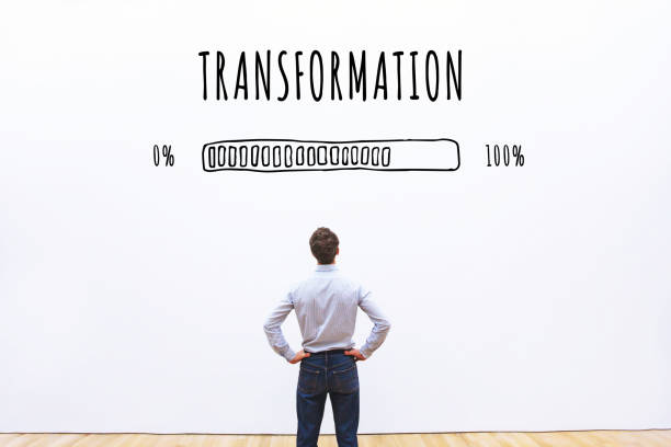transformation business concept stock photo