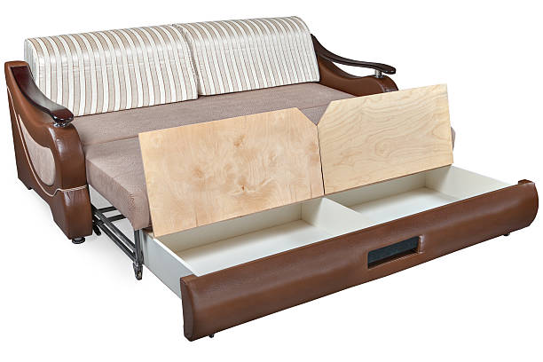 transformer bed sofa combination furniture - verstellbar stock-fotos und bilder