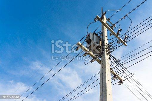 istock Transformer on high power station. 867778648