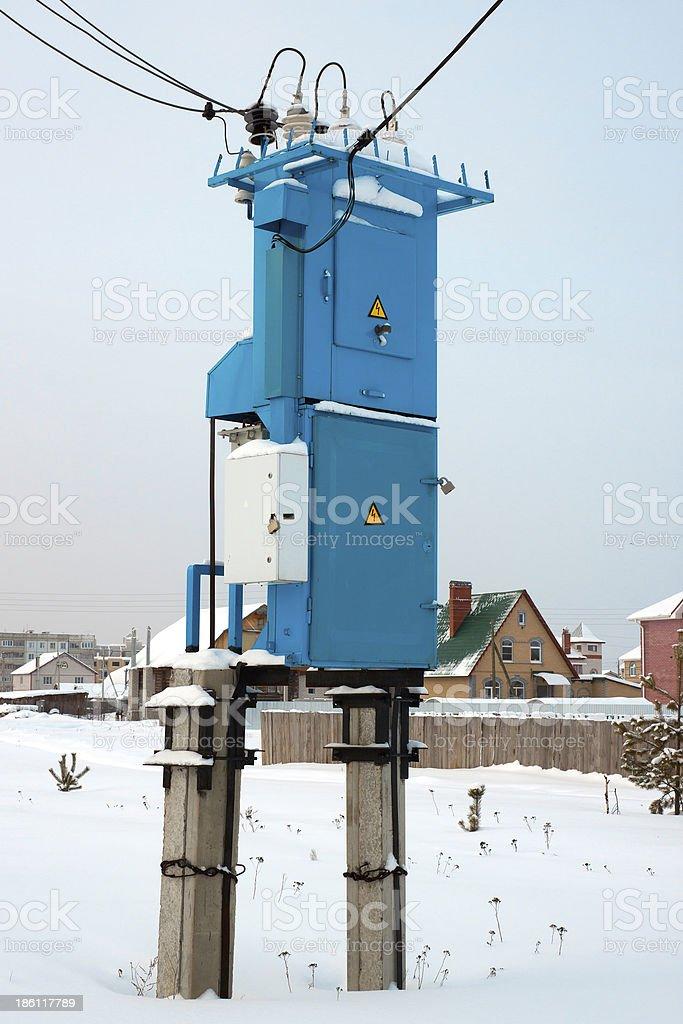 Transformer substation royalty-free stock photo