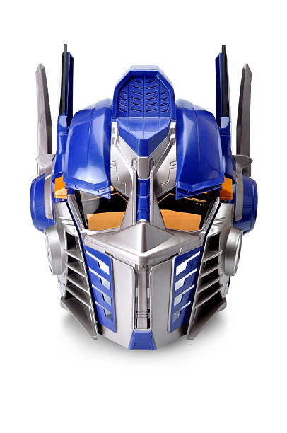 transformers movie character head - transformers stock photos and pictures