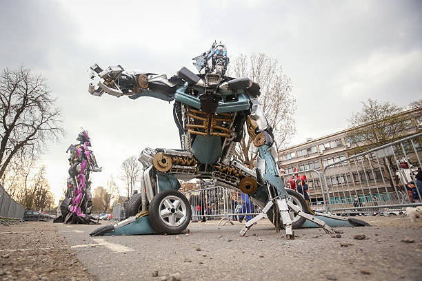 transformers protecting zagreb - transformers stock photos and pictures