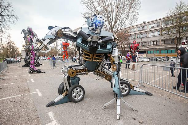 Transformers protecting Zagreb stock photo