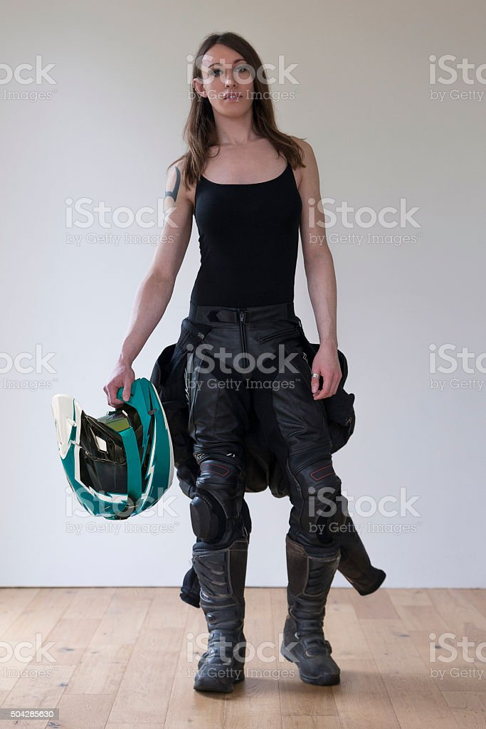 Transgender Biker stock photo