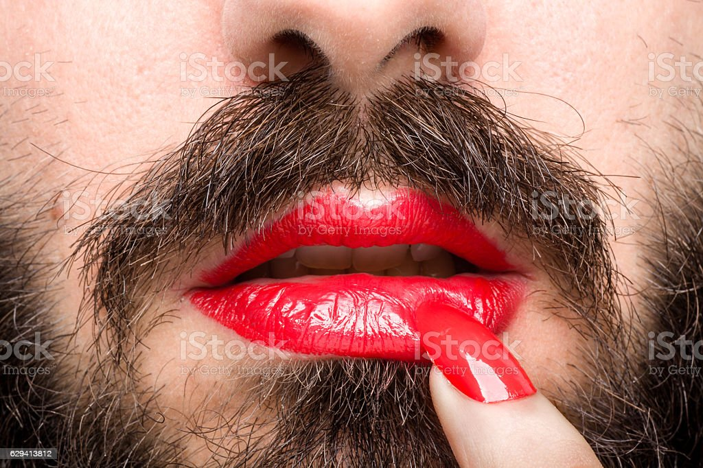 Transgender's Mouth stock photo