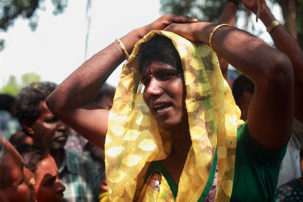 Transgenders of Koovagam, India stock photo