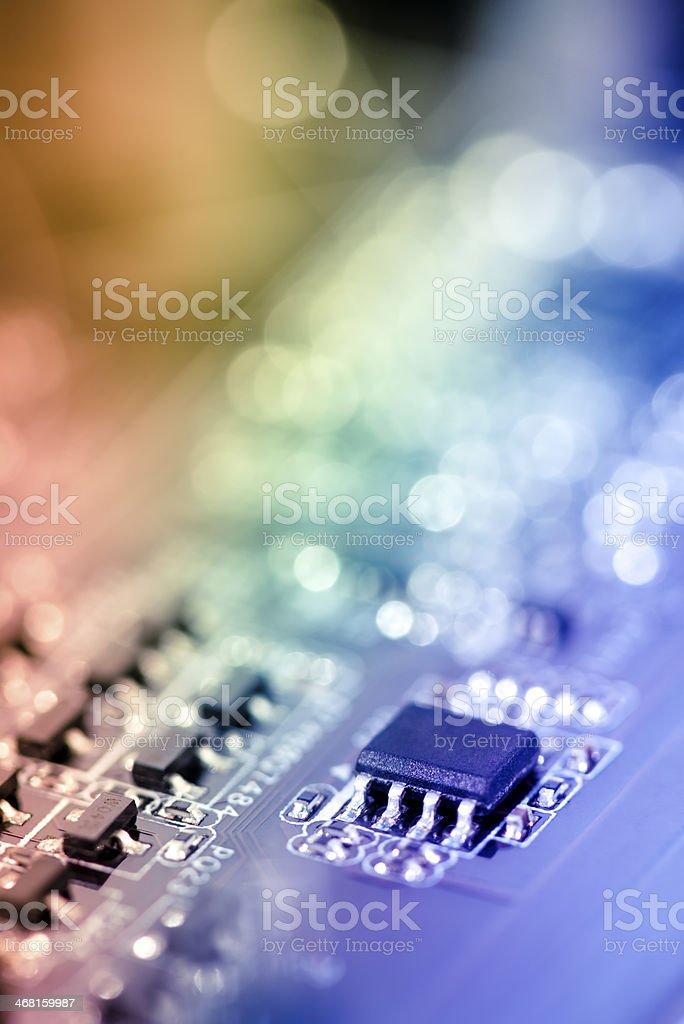 Transistor on Circuit Board royalty-free stock photo