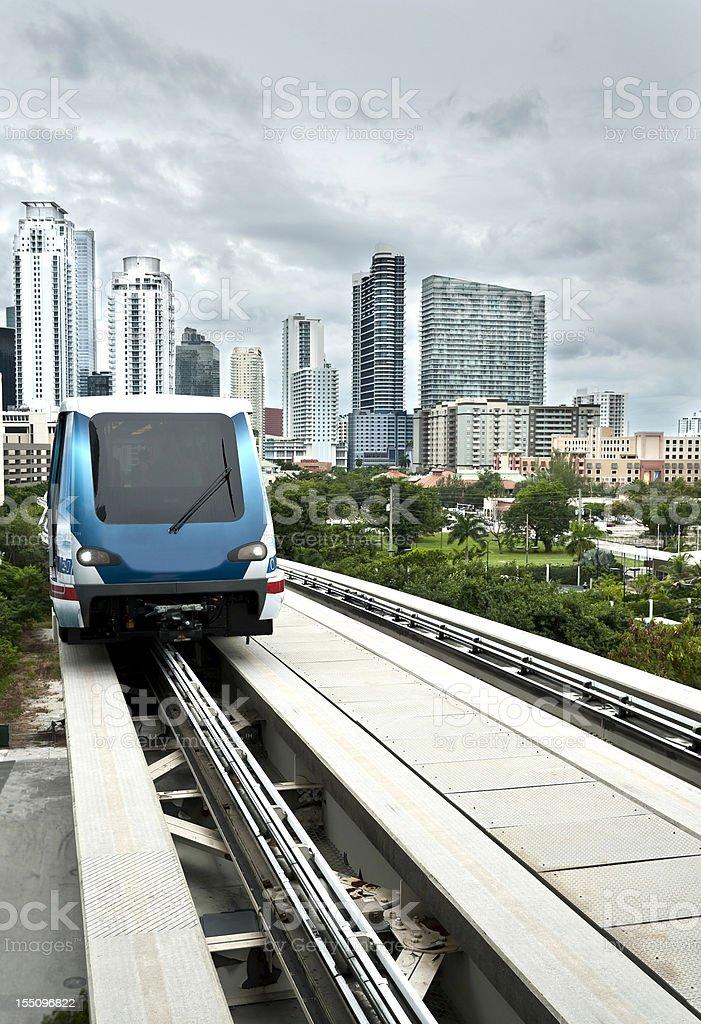Transit Bus Tram In Miami Florida Stock Photo - Download