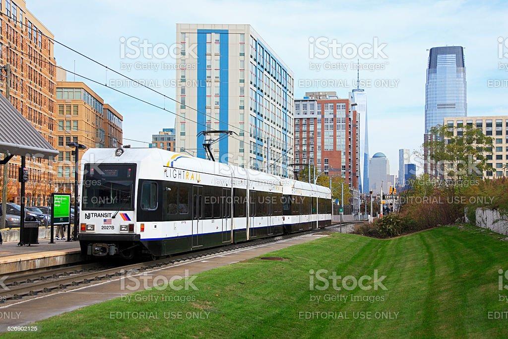 Nj Transit Hudson Bergen Light Rail Service In Jersey City Stock Photo Download Image Now Istock