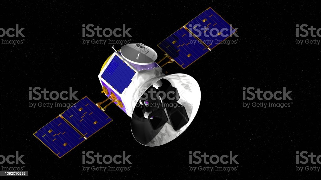 Transiting Exoplanet Survey Satellite TESS space telescope with stars...