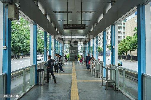 istock TransJakarta Bus Stop 936793316