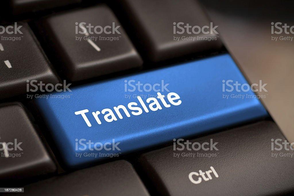 Translate Computer Key royalty-free stock photo