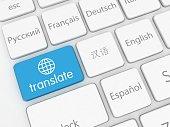 Translate learn language internet online application keyboard