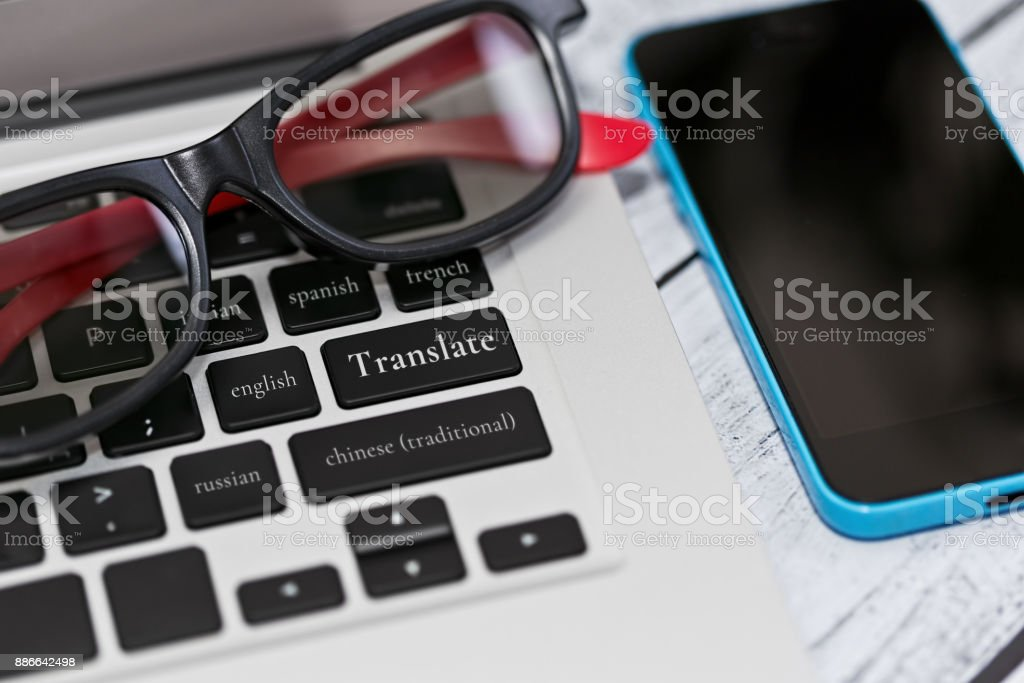 Translation service and application stock photo
