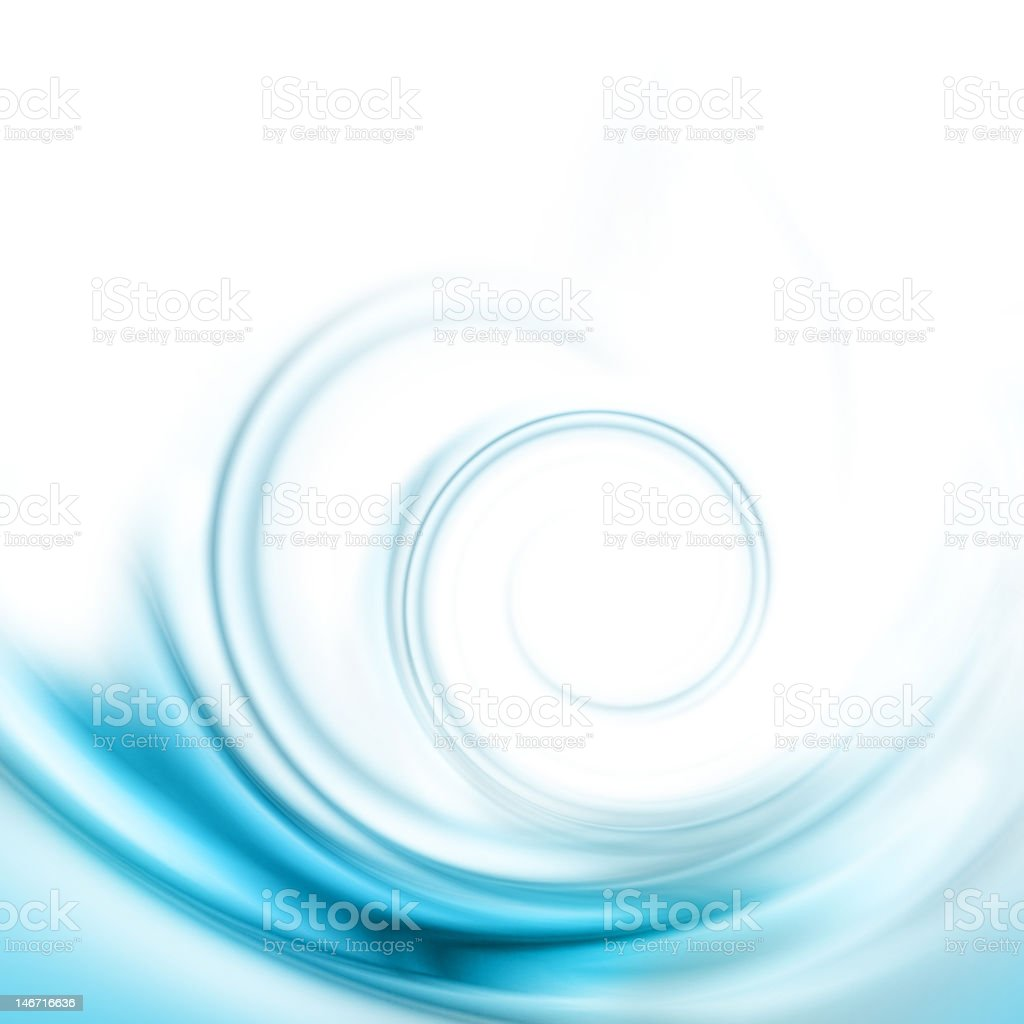 Translucent blue swirl stock photo