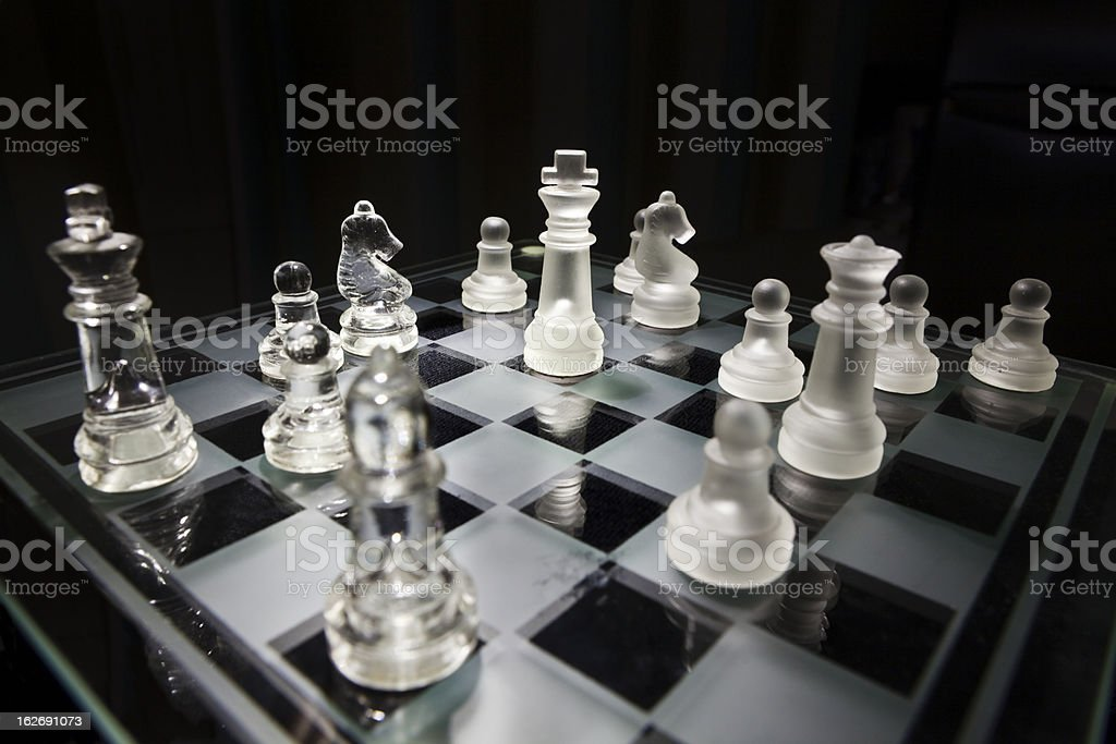 Translucent chess game royalty-free stock photo