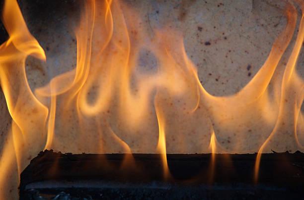 Translucent fire stock photo