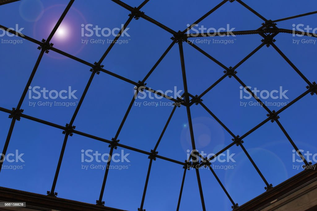 Translucent glass eiling of a veranda  Inside view - Royalty-free Architecture Stock Photo
