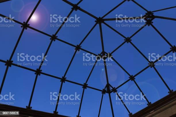 Doorschijnend Glas Eiling Van Een Veranda Binnen Mening Stockfoto en meer beelden van Architectuur