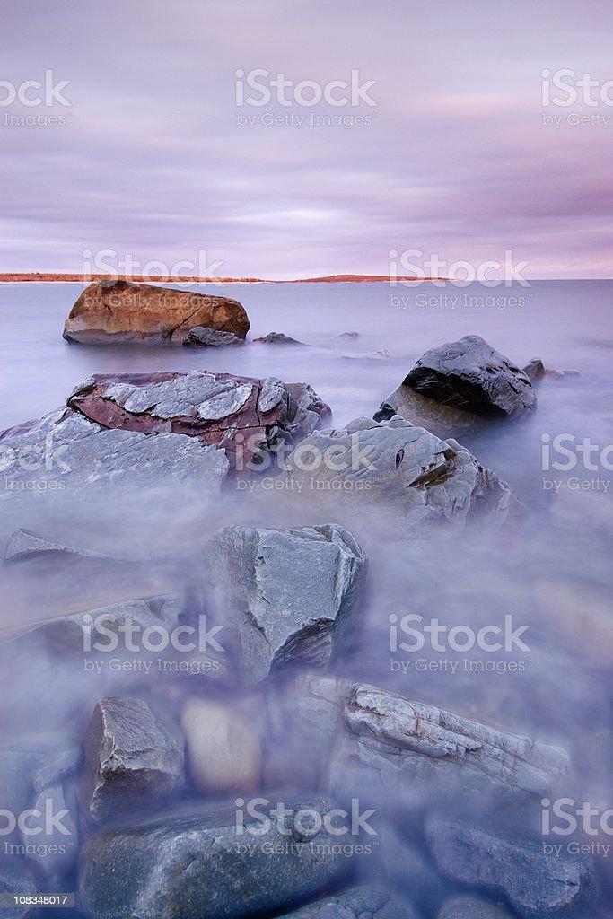 Translucent water coastline royalty-free stock photo