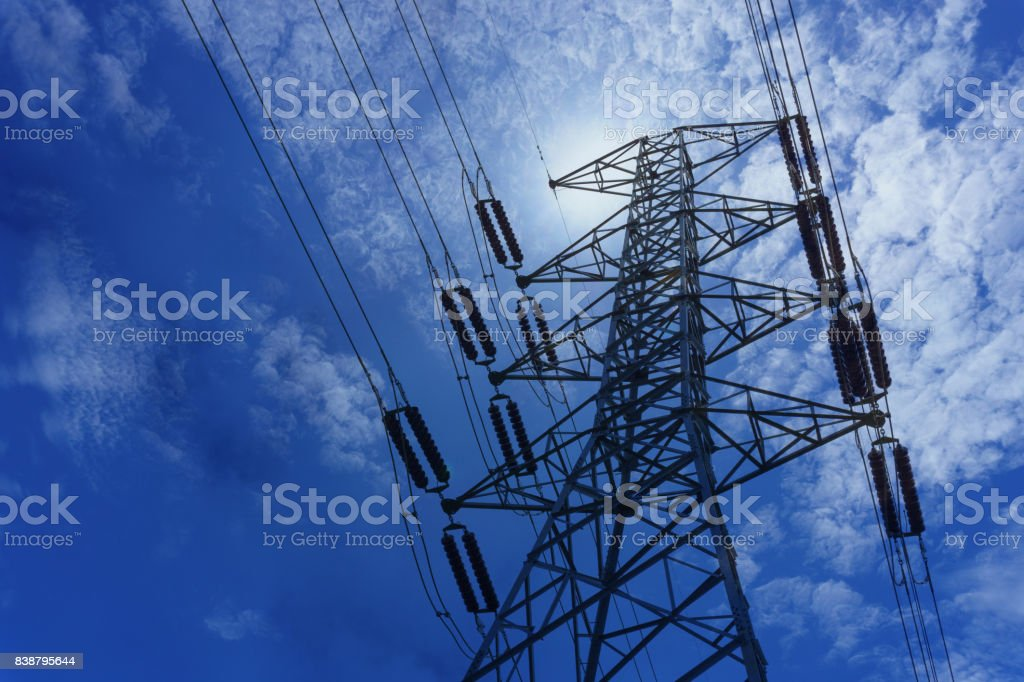 500 KV transmission line in maemoh lampang thailand. electricity...