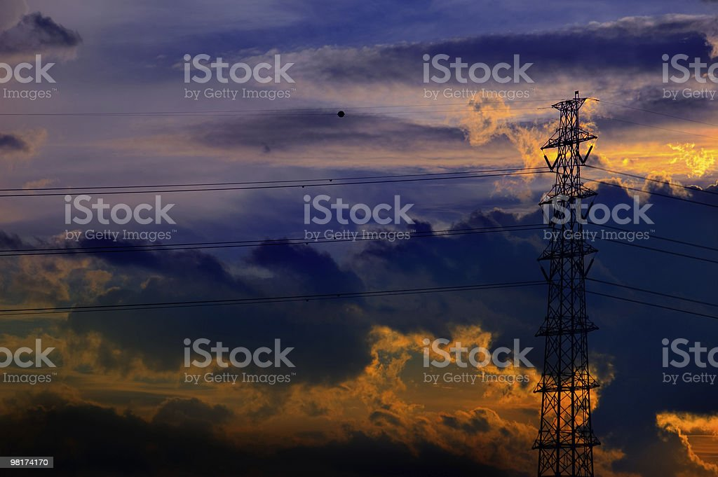Transmission Tower royalty-free stock photo