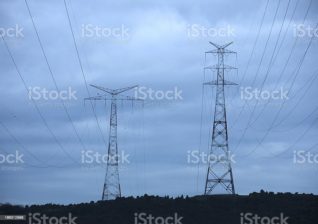 Transmission Towerrs royalty-free stock photo
