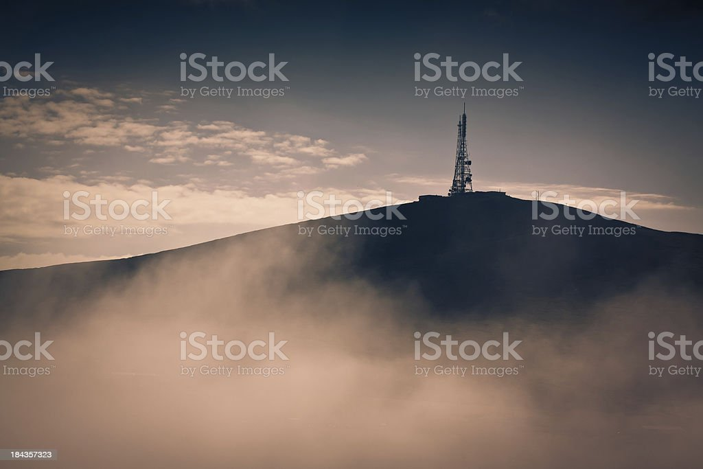 Transmitter In Mist stock photo