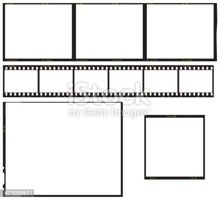 Series of transparency film frames. 35mm Film Strip, 5