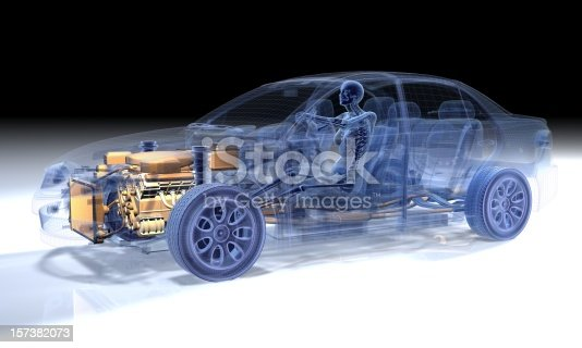 istock Transparency of woman driving in a car 157382073