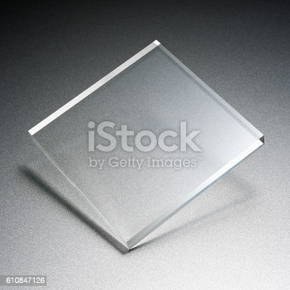 istock Transparency plate abstract 610847126