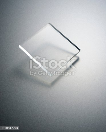 istock Transparency plate abstract 610847724