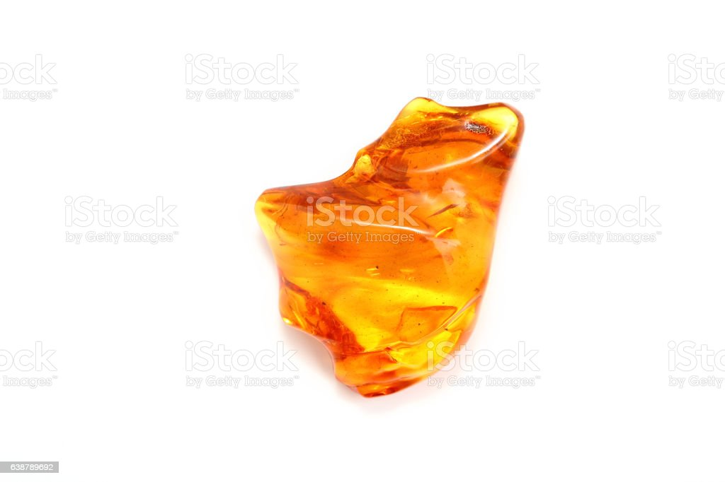 Transparent amber yellow with a wavy surface. - foto stock
