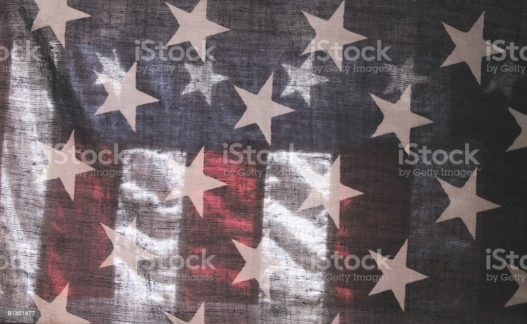 transparent American flag 4 royalty-free stock photo