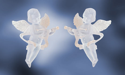 Transparent Angels Ornament For Christmas Tree Wings Singing Stock