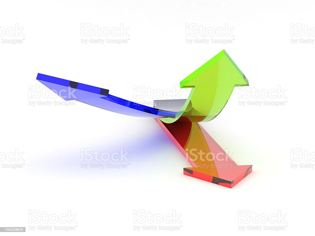 transparent arrows royalty-free stock photo