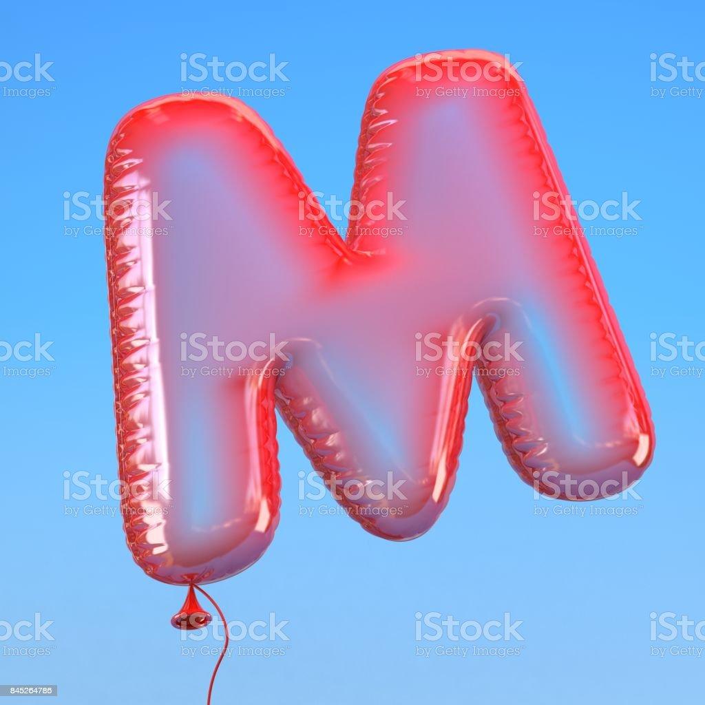 transparenten Ballon Schriftart Buchstabe M – Foto