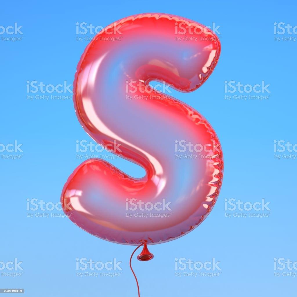 transparenten Ballon Schriftart Buchstabe S – Foto