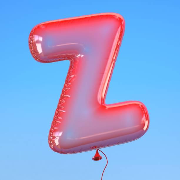 transparent balloon font letter Z stock photo