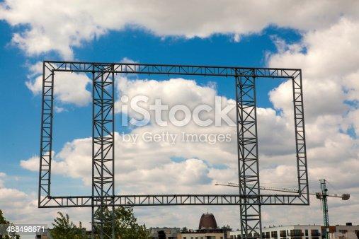 istock Transparent billboard 488498671