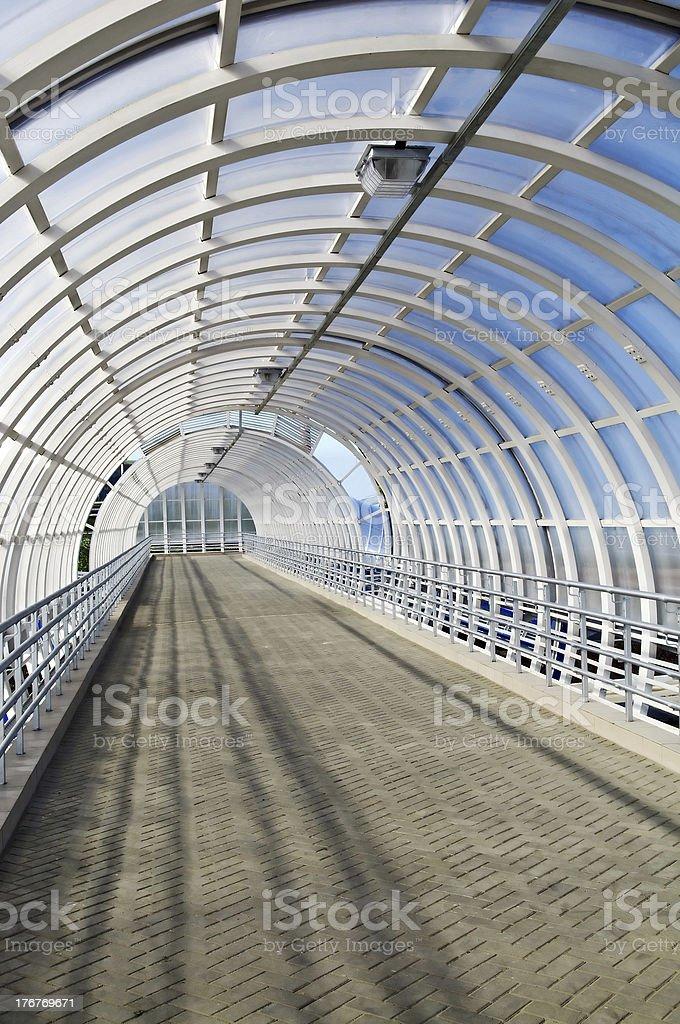 Transparent bridge tunne royalty-free stock photo