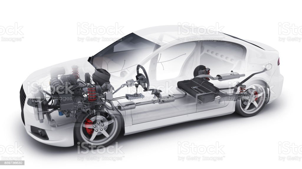 transparent car and interior parts stock photo