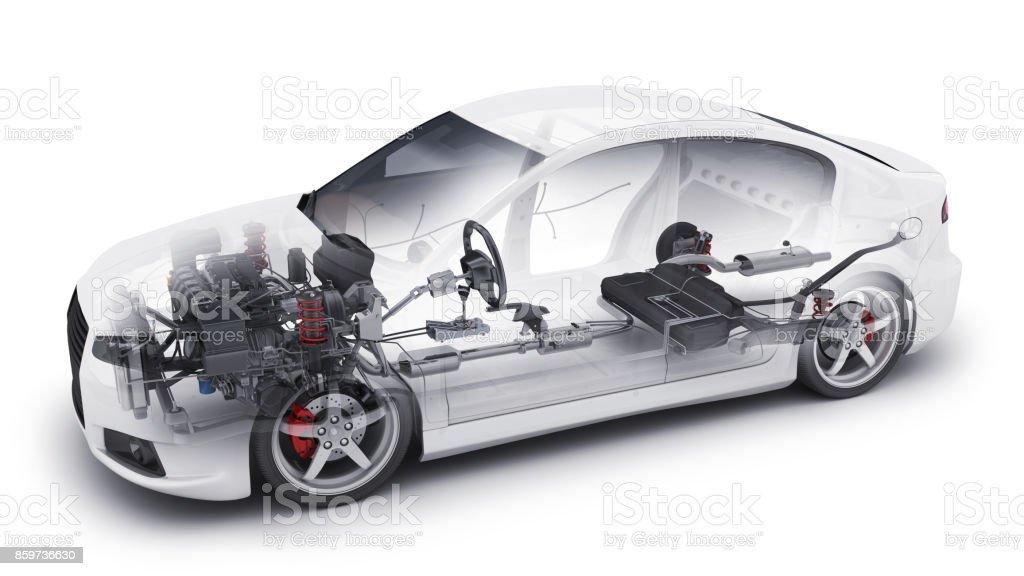voiture transparente et les pièces intérieures - Photo