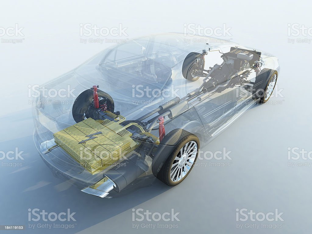Transparent car stock photo
