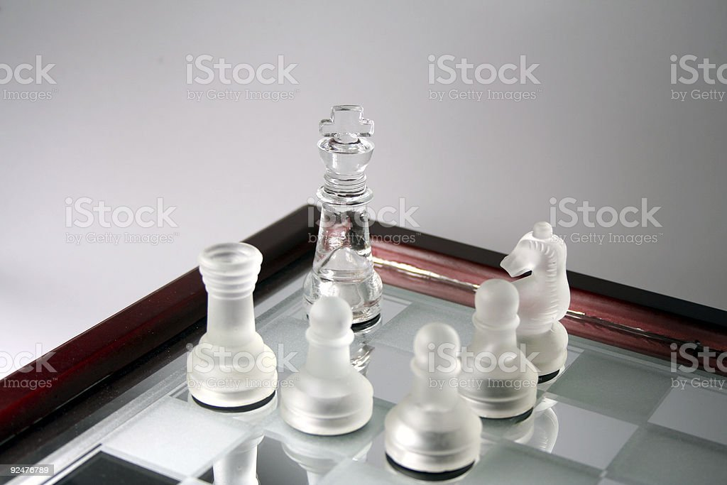 Transparent Chess pieces royalty-free stock photo